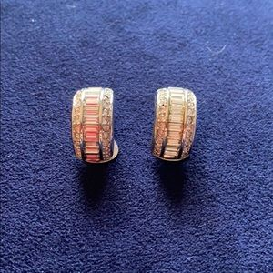 Christian Dior Vintage Chip On Earrings